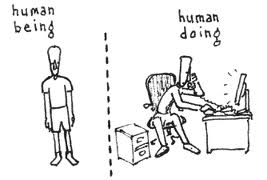 cartoon human being human doing