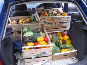 A boot full of food
