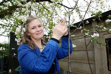 Molly Fletcher with edible trees