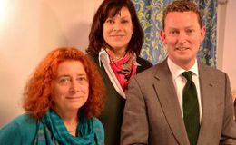 Dr Sam Page, Claire Perry MP, and energy minister Greg Barker: Marlborough News