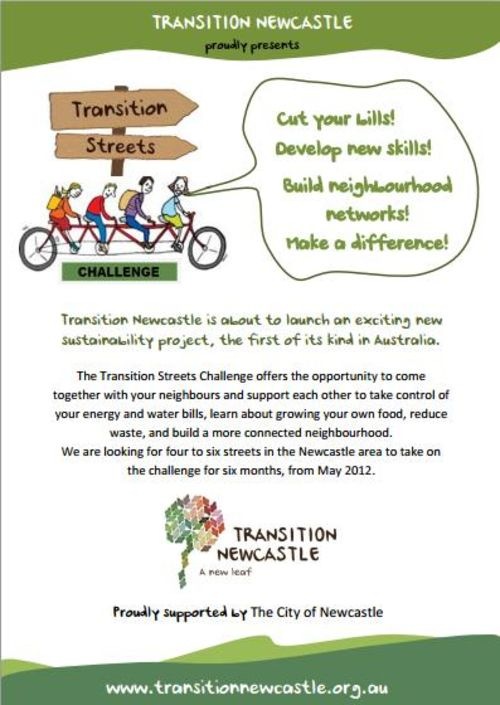 Transition Streets Challenge flyer