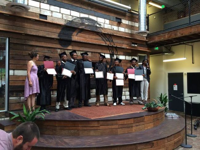 The graduation ceremony at the end of Pathways to Resilience.  For many participants it's their first ever graduation ceremony.