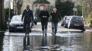 David Cameron visiting the Somerset flooding.