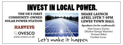 Lewes Community Solar Power station promo leaflet