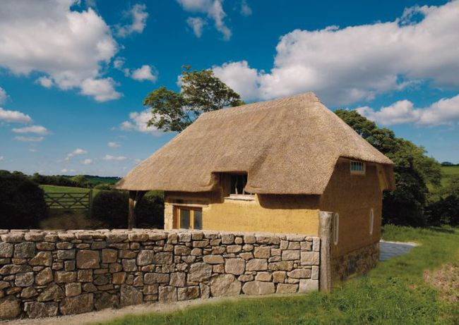 Cob house built by Clayworks