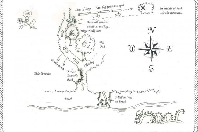 One of the Great Rebel Raft Regatta's treasure maps.