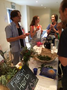 Talking plants and teas at Tooting Foodival, September 2014 by Chris from NappyValleyNet