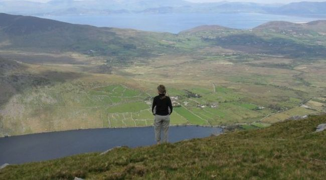 Sophy in the Kerry mountains