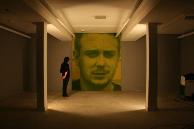 Chlorophyll portrait: Void Gallery, Derry, Northern Ireland 2001.