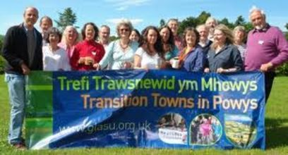 powys transition groups with banner