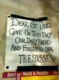 poster with forgive us our trespasses
