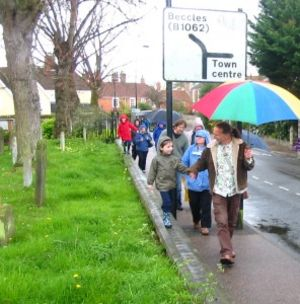 walking with weeds in bungay