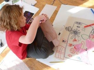 Making art on the floor