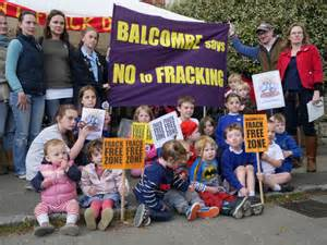 Balcombe villagers protest against fracking