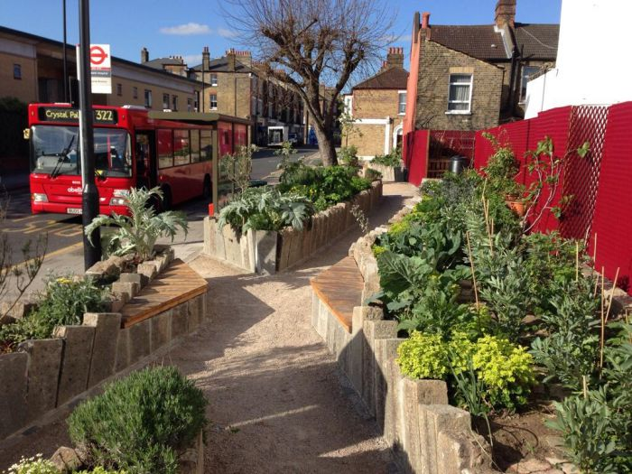 An Edible Bus Stop in London.  Transition in action, and also great public health work.