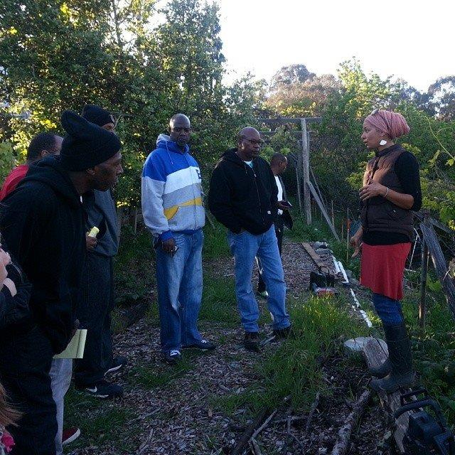 Teaching permaculture design on Pathways to Resilience.