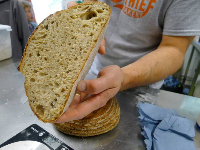 Local baker The Almond Thief produces a porridge-based loaf to support the crowdfunder.