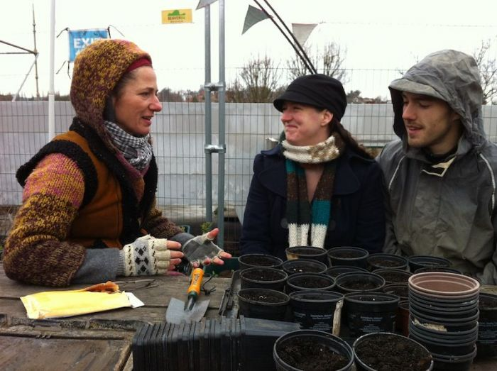 With Azul Thome at Food from the Sky on the roof of Budgens Supermarket in Crouch End.