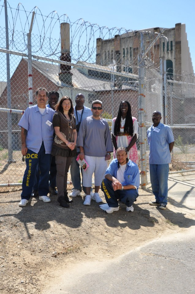 Pandora and colleagues outside San Quentin prison.