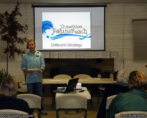 Max Isles, president of Transition Laguna Beach, giving a presentation.