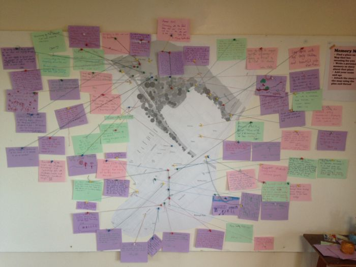 Placing peoples' memories of the site on a map.