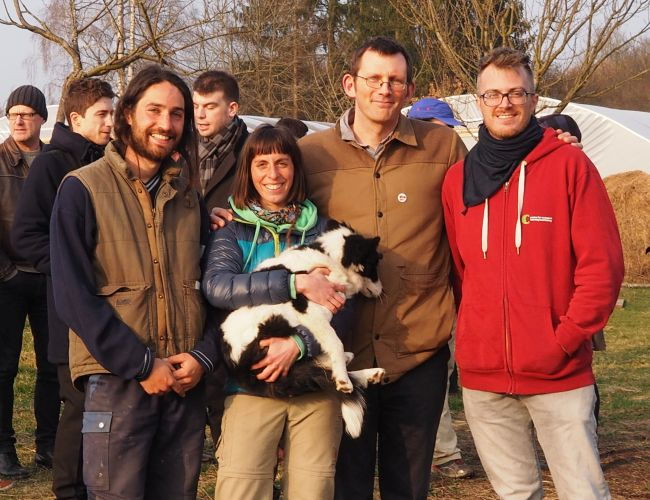 With Marko, Pit and Sophie of TERRA. Photo - Annick Feipel
