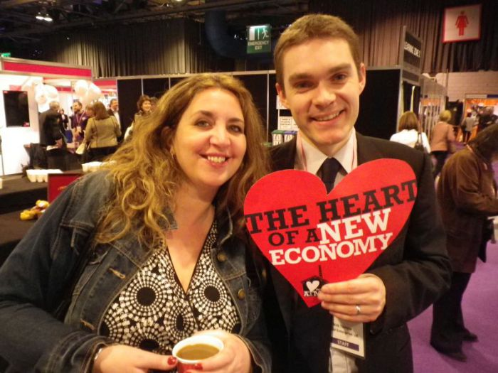 Nick (with Sarah Aktemel) showing his support for the Atmos Totnes project.