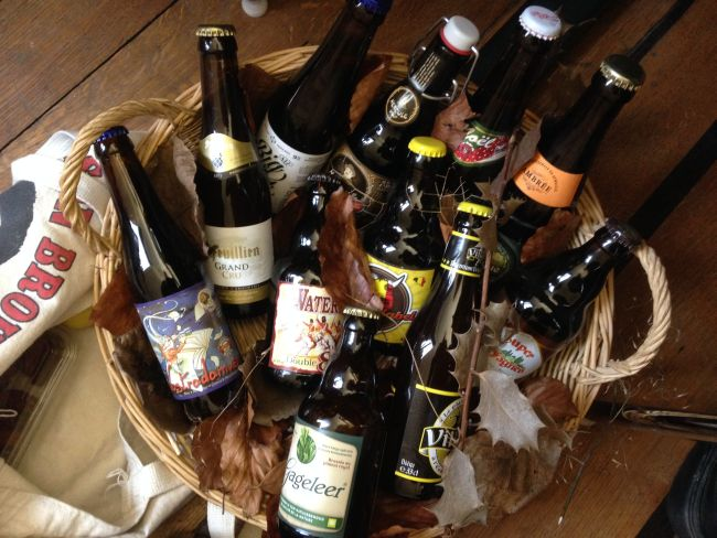 Just some of the beer bottles I was given as a leaving present.