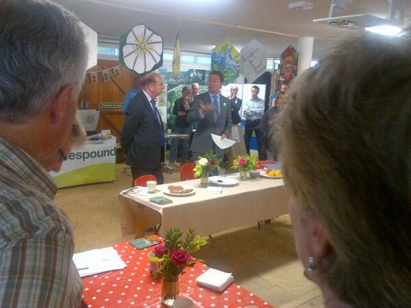 Greg Barker MP at the OVESCO Community Energy day.