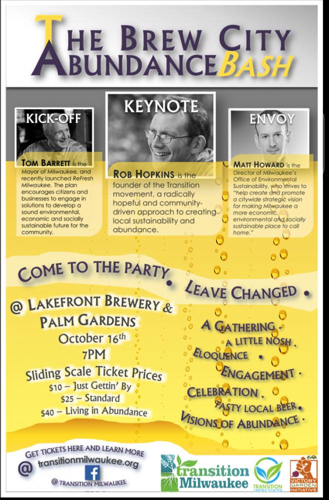Evening event flyer.