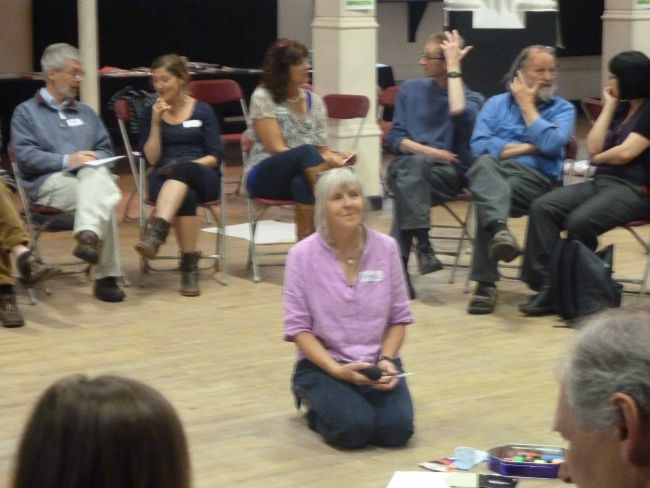 Angela Raffle facilitating the Transition Bristol event.
