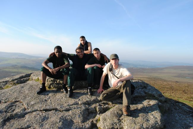 Caspar (right) with a Write to Freedom group on Dartmoor.