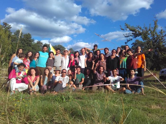 Participantes del curso de transición interior realizado en Pucón. Foto: Juan del Río