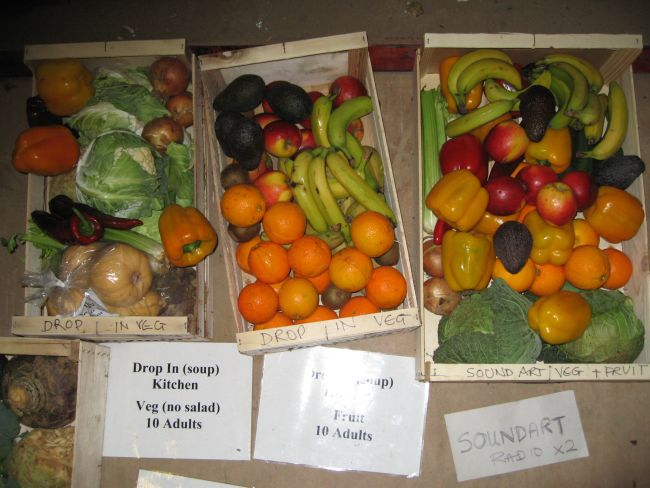Veg boxes filling up