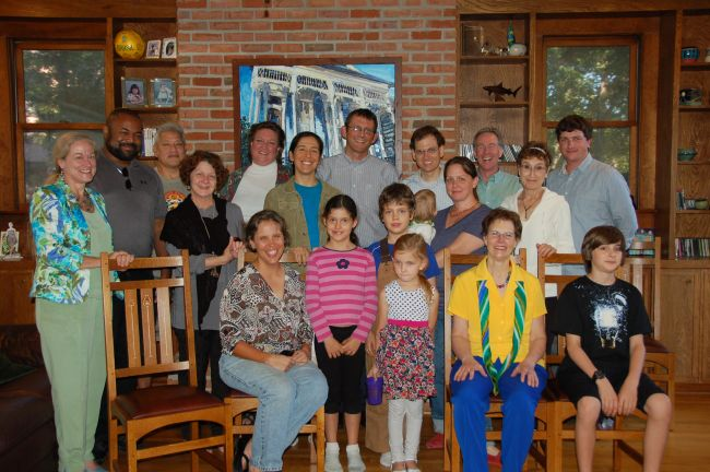 With members of the Transition Houston group