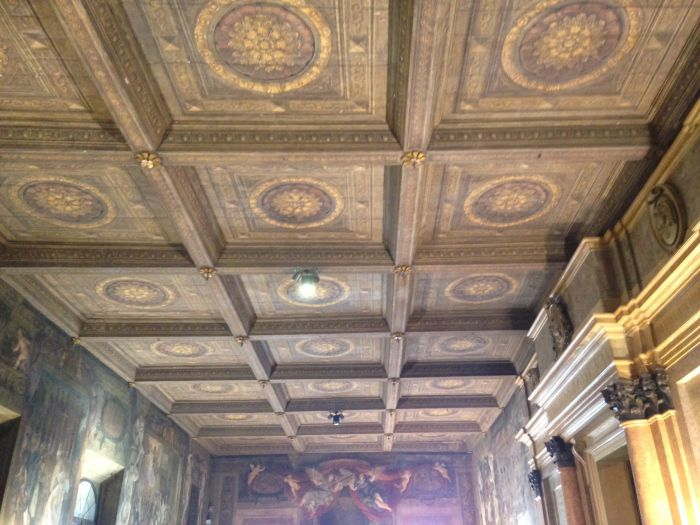Amazing beautiful medieval painted ceilings in City Hall.