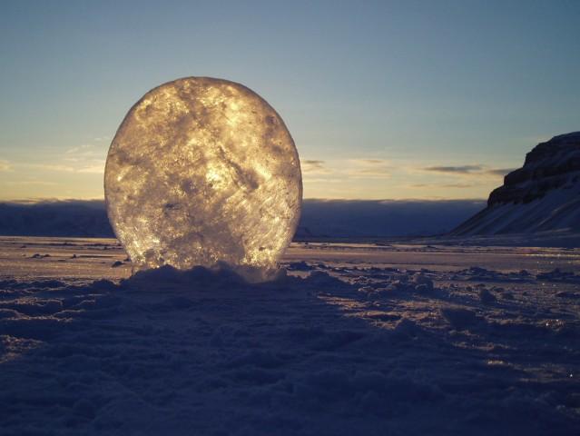 Ice lens.