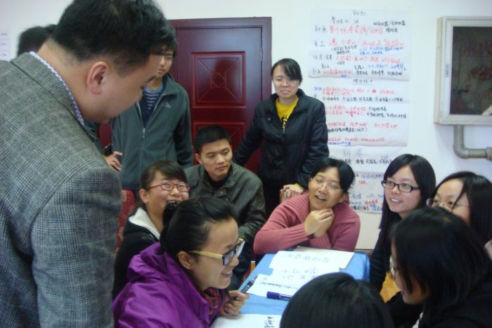 A Transition Training, led by May, in China.