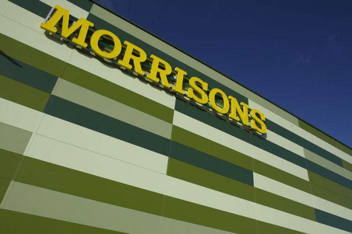 The cladding on the Morrisons distribution centre.  Spot the difference.