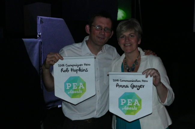 Rob with Anna Guyer of Greenhouse PR, also a winner at the PEA Awards.