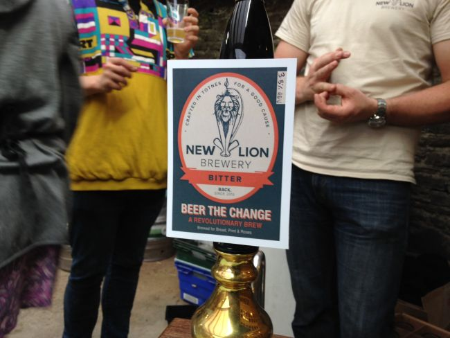 'Beer the Change', a one-off beer created for last  week's 'A Walk through Totnes's Radical Past, Present and Future' event.