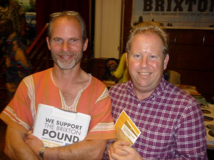 Duncan with Pete North, author of 'Local Money', at the launch of the first Bristol Pound.