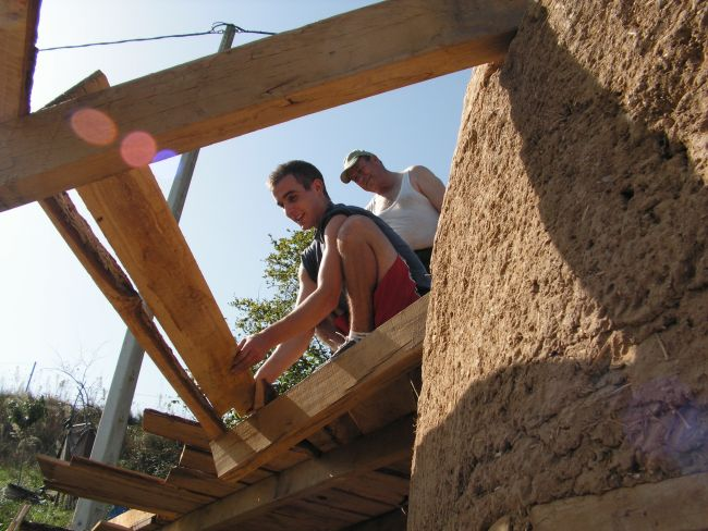 Building the cabin roof