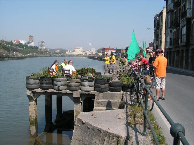 Tyre garden in Zorrozaurre