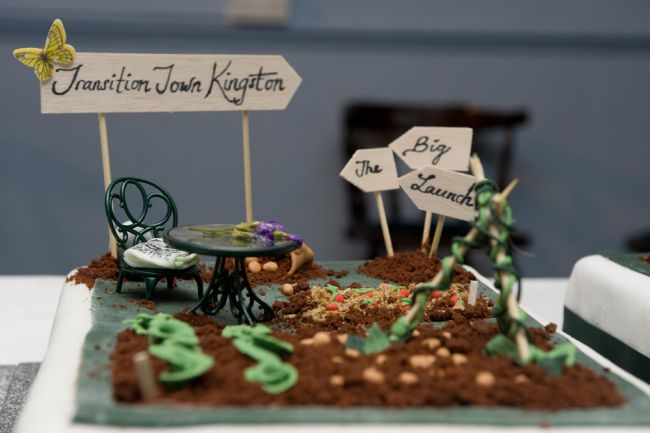 Transition Town Kingston created this allotment cake to celebrate their Unleashing.