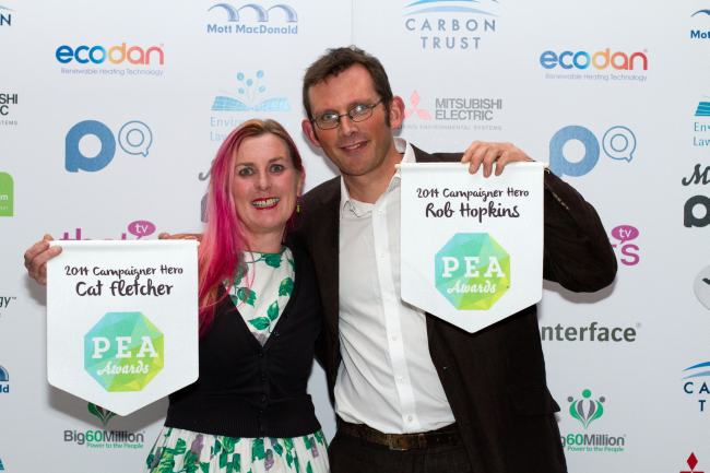 Rob with Cat Fletcher, fellow winner in the Campaigner category.