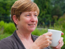 Chrissie Godfrey.  And a cup of tea.