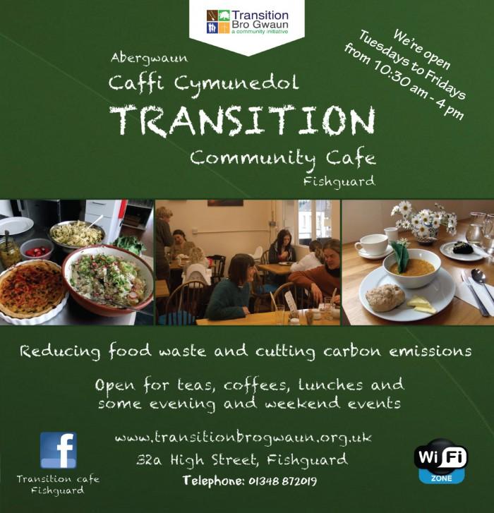 Transition Bro Gwaun's Transition Community Cafe.