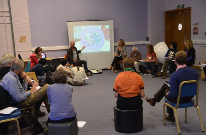 Nick Osborne's 'Effective Groups' Skills Day was one of the most popular.  Photo: Mike Grenville.