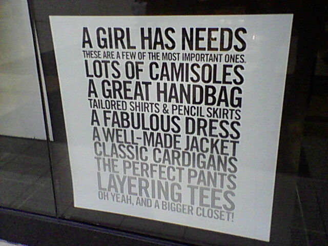 A girl has needs.